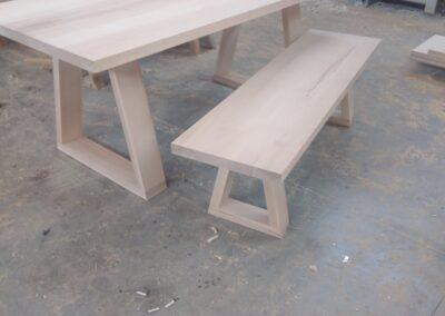 Ξύλινο Παγκάκι με τραπέζι